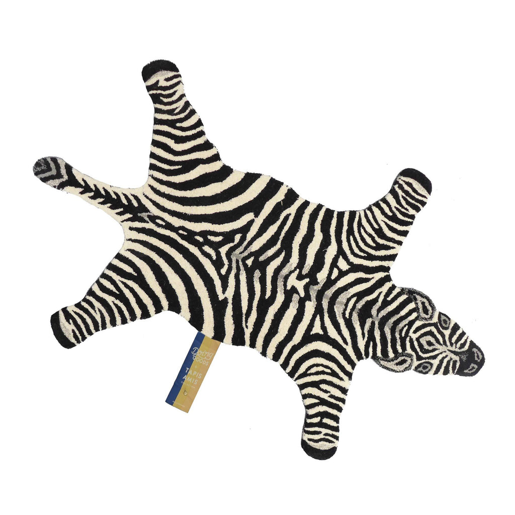 Chubby Zebra Rug (Large) by Doing Goods, available at Bobby Rabbit.