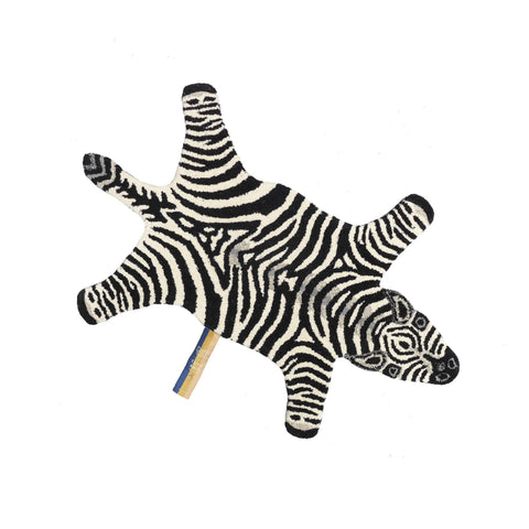 Chubby Zebra Rug (Small) by Doing Goods, available at Bobby Rabbit.