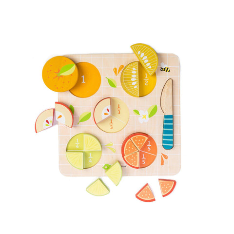 Citrus Fractions Wooden Toy by Tender Leaf Toys, available at Bobby Rabbit.