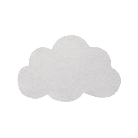 Soft Grey Cloud Rug by Lilipinso, available at Bobby Rabbit.