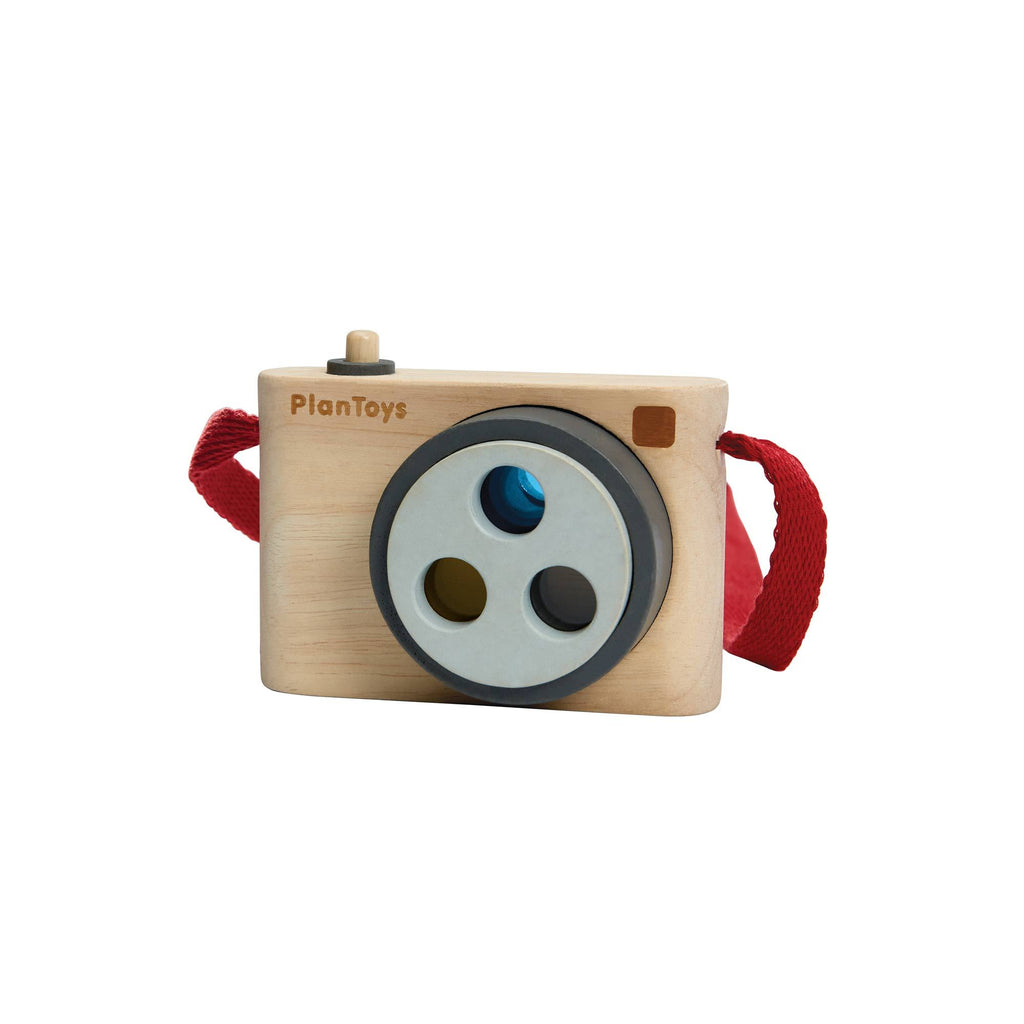 Coloured Snap Camera by Plantoys, available at Bobby Rabbit.