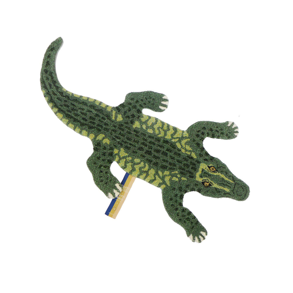 Coolio Crocodile Rug (Small) by Doing Goods, available at Bobby Rabbit.