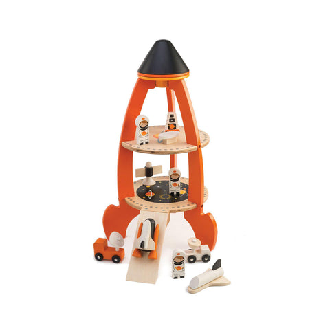 Cosmic Space Rocket Wooden Toy by Tenderleaf Toys, available at Bobby Rabbit.