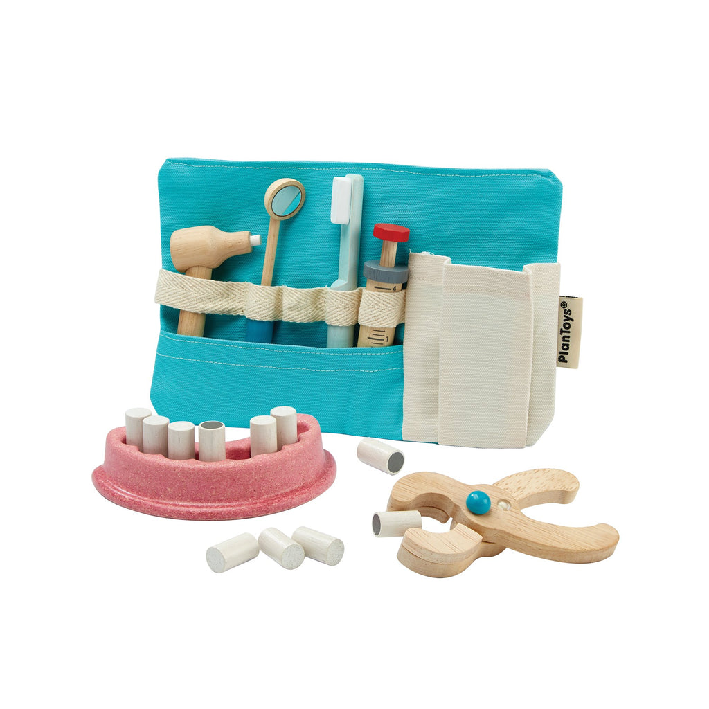 Dentist Set by Plantoys, available at Bobby Rabbit.