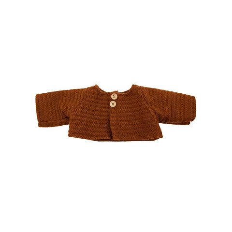 Dinkum Doll Cardigan - Chestnut by Olli Ella, available at Bobby Rabbit.