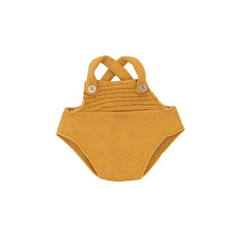 Dinkum Doll Romper Mustard by Olli Ella, available at Bobby Rabbit.
