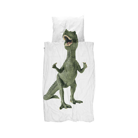 Dinosaur children's single bedding set by Snurk, available at Bobby Rabbit.