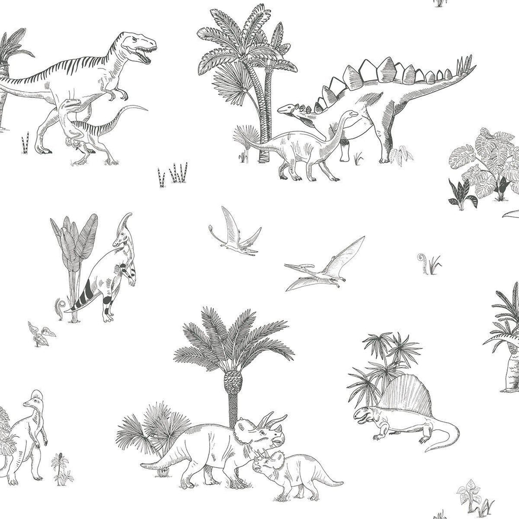 Dinosaurs Wallpaper by Lilipinso, available at Bobby Rabbit.
