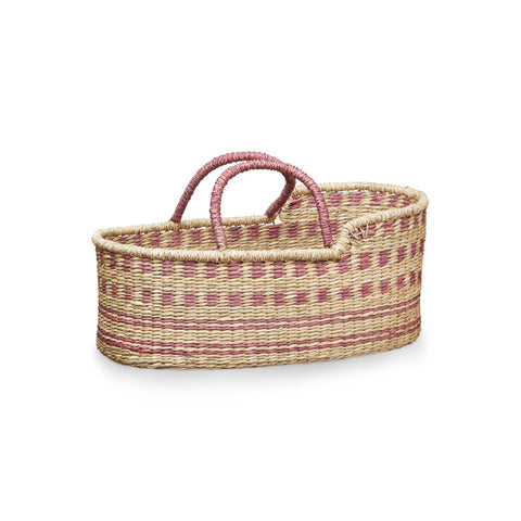 Dolls Moses Basket - Berry by Cam Cam Copenhagen, available at Bobby Rabbit.