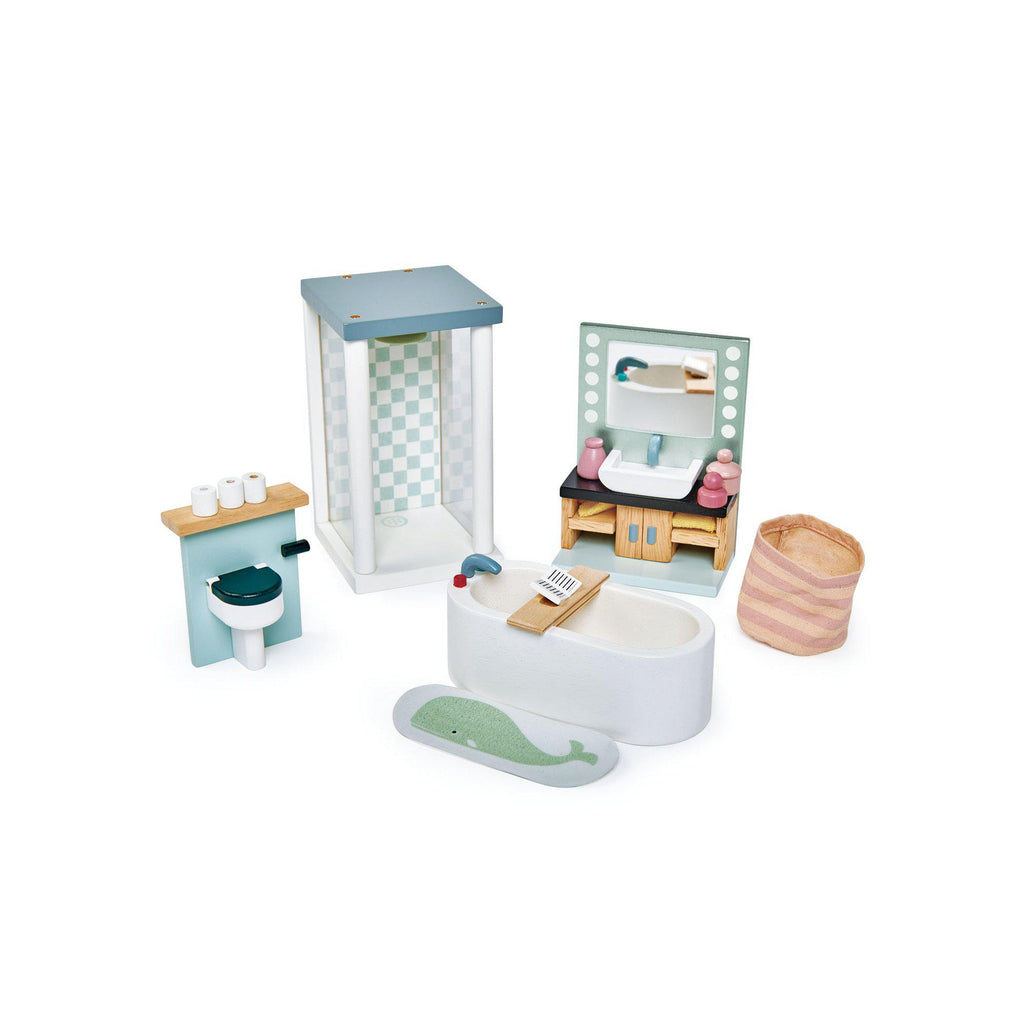 Dovetail House Dolls House Bathroom by Tenderleaf Toys, available at Bobby Rabbit.