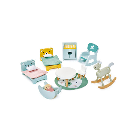 Dovetail House Dolls House Kids Room by Tenderleaf Toys, available at Bobby Rabbit.