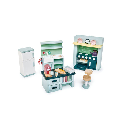 Dovetail House Dolls House Kitchen by Tenderleaf Toys, available at Bobby Rabbit.