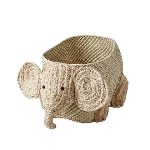 Elephant Storage Basket by Rice, available at Bobby Rabbit.