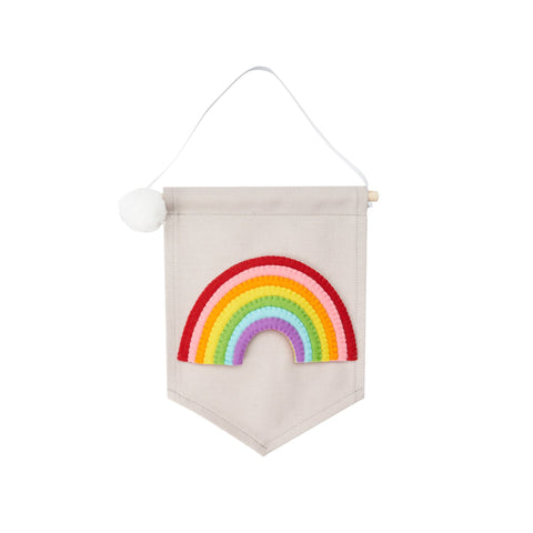 Felt Rainbow Banner by Noodledollnelly, available at Bobby Rabbit.