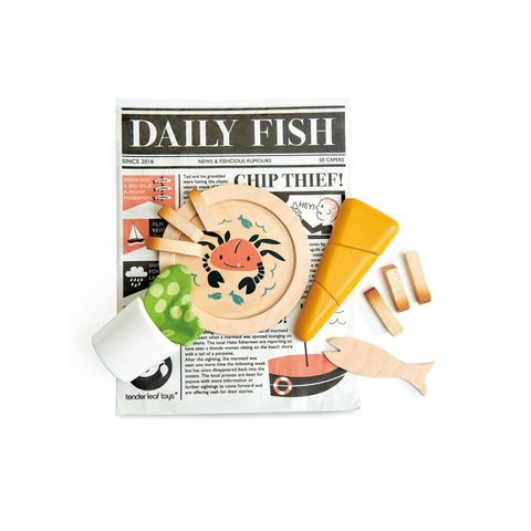 Fish and Chips by Tender Leaf Toys, available at Bobby Rabbit.