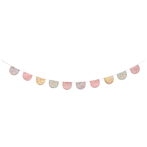 Liberty Print Floral Scalloped Garland by Meri Meri, available at Bobby Rabbit.