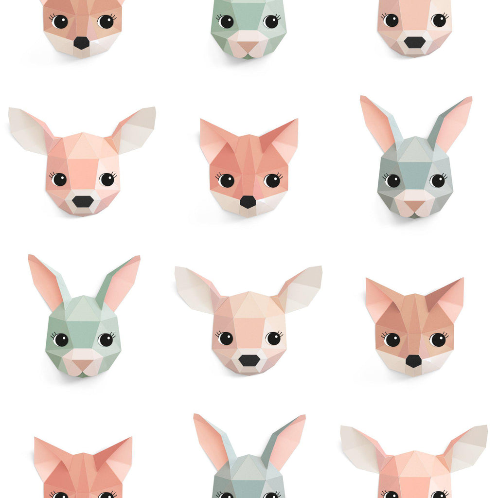 Forest Animals Wallpaper by Studio Ditte, available at Bobby Rabbit.