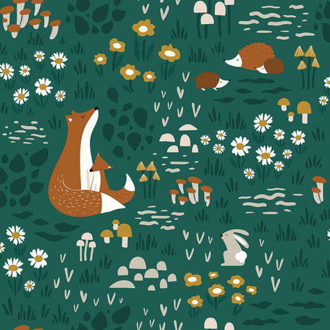 Forest Friends Wallpaper by Lilipinso, available at Bobby Rabbit.