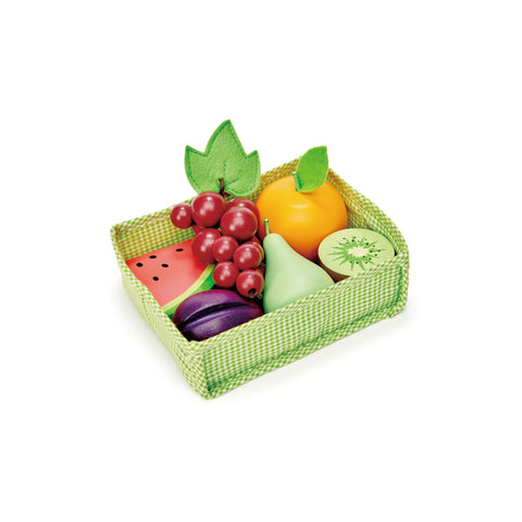 Fruity Crate Pretend Food Wooden Toy by Tender Leaf Toys, available at Bobby Rabbit.