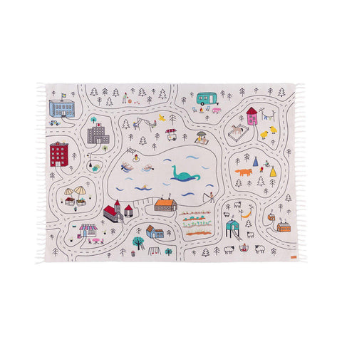 Giant Little Explorer's Play Rug by Lakaluk, available at Bobby Rabbit.