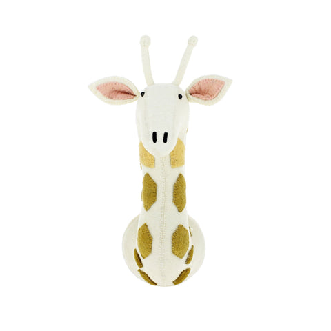 Felt Giraffe Head to hang on the wall, made by Fiona Walker England and available at Bobby Rabbit.