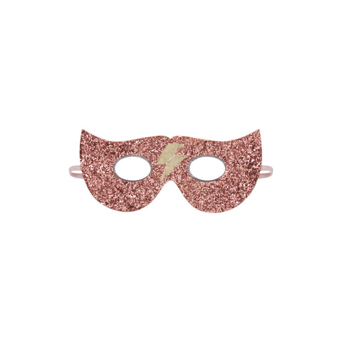 Glitter Lightning Superhero Mask dressing up accessory by Mimi and Lula, available at Bobby Rabbit.