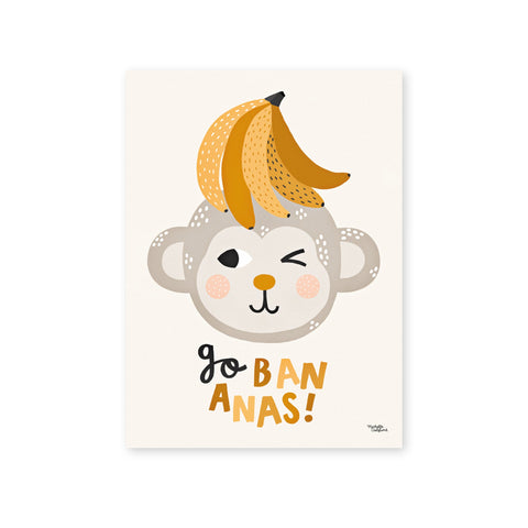 Go Bananas Poster by Michelle Carlslund, available at Bobby Rabbit.