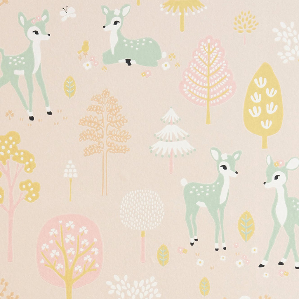 Golden Woods Wallpaper by Majvillan, available at Bobby Rabbit.