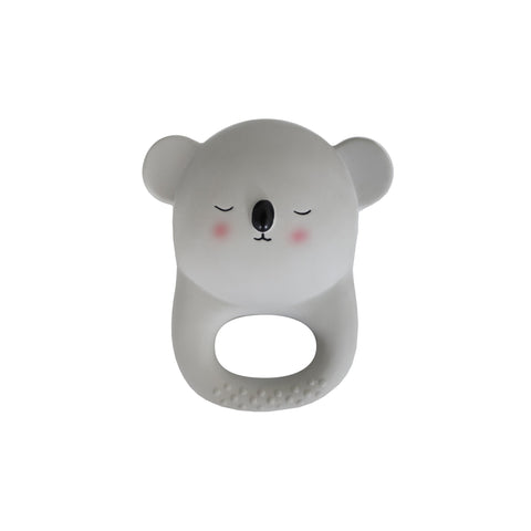 Grey Koala Teething Toy by Eef Lillemor, available at Bobby Rabbit.