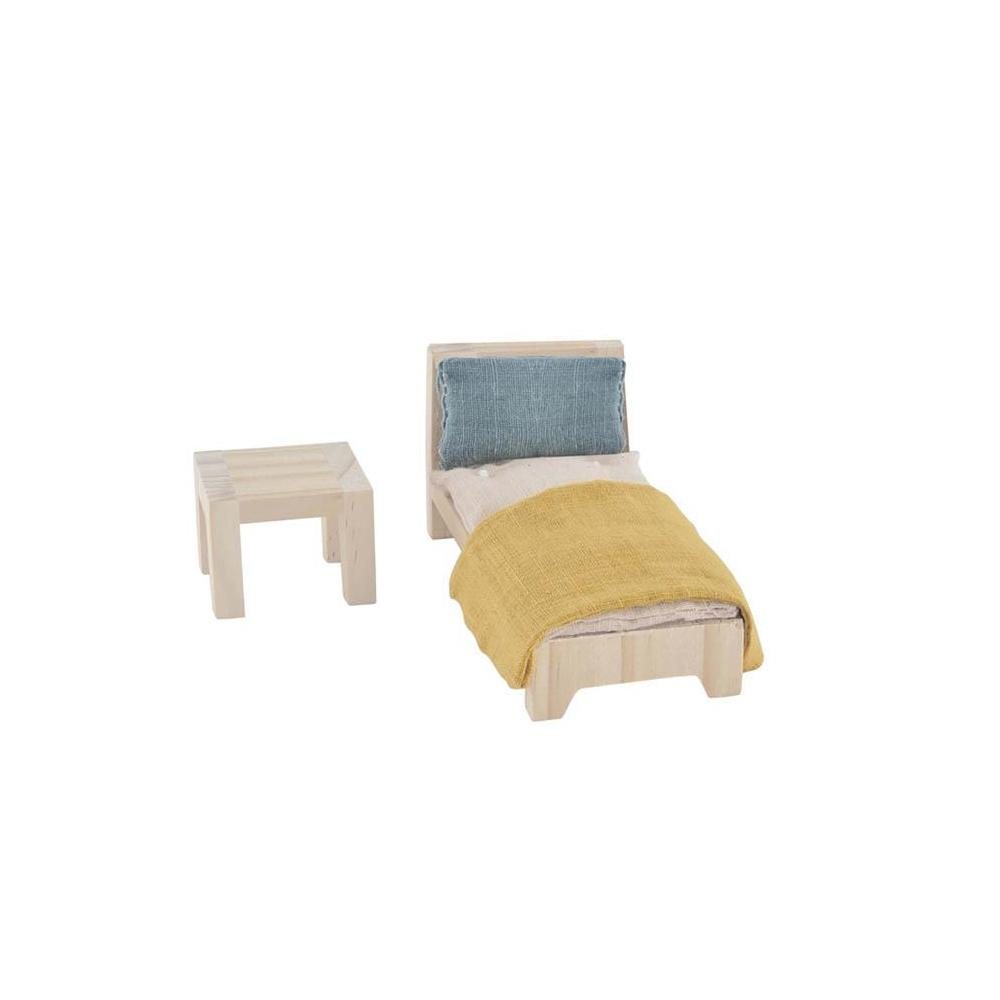 Holdie House Dolls House Furniture - Single Bedroom by Olli Ella, available at Bobby Rabbit.