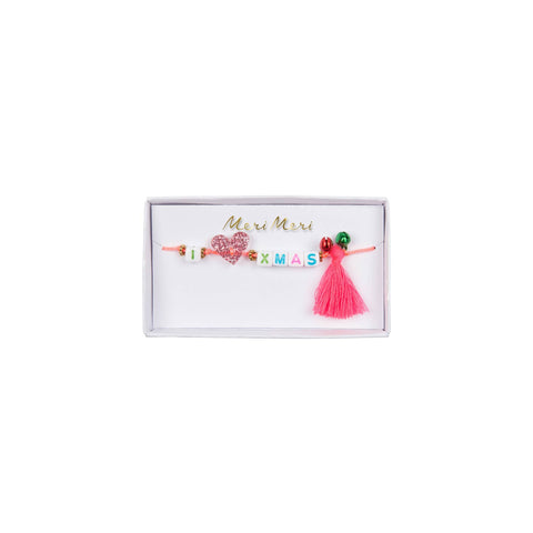 I Heart Xmas Bracelet by Meri Meri, available at Bobby Rabbit.