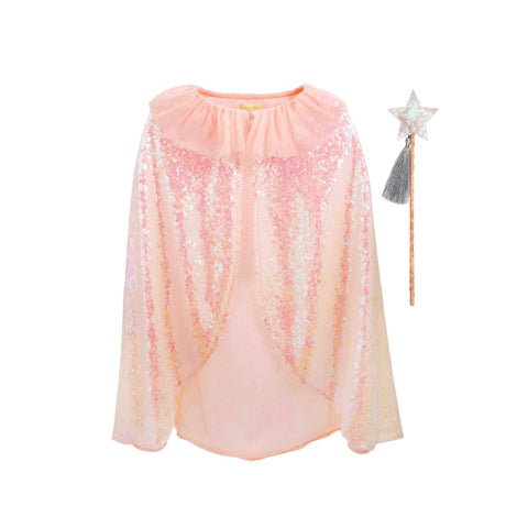 Iridescent Sequin Cape and Wand Dress Up Set by Meri Meri, available at Bobby Rabbit.