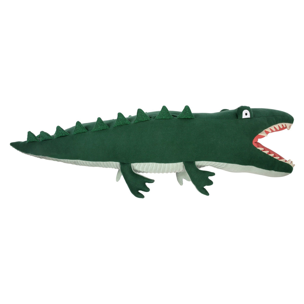 Large knitted alligator by Meri Meri, available at Bobby Rabbit.