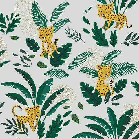 Jungle Wallpaper by Lilipinso, available at Bobby Rabbit.