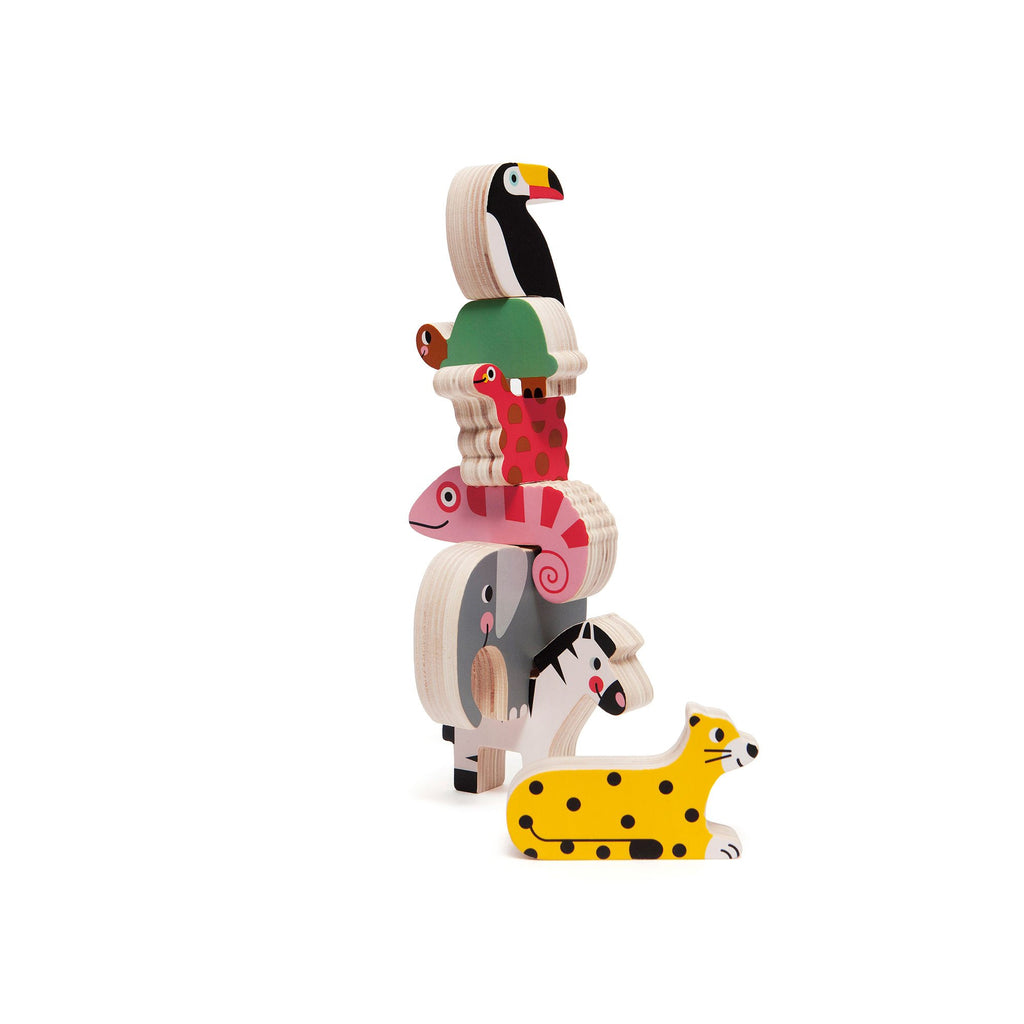 Jungle Stacking Wooden Toy by Petit Monkey, available at Bobby Rabbit.