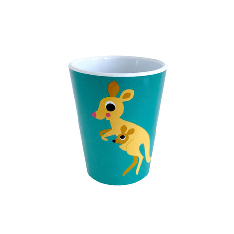 Melamine Kangaroo Cup, designed by Ingela P. Arrhenius for OMM Design and available at Bobby Rabbit.