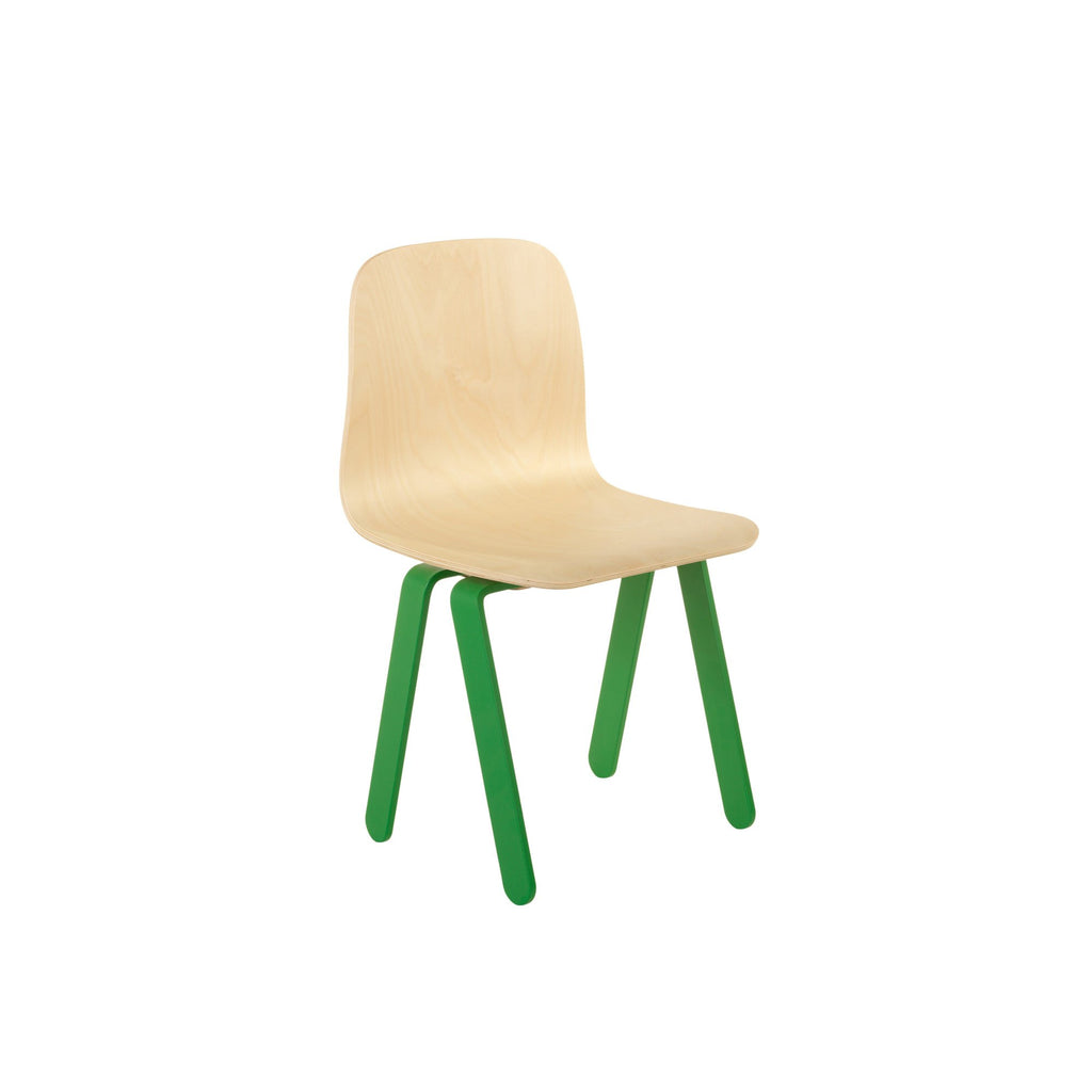 Green Kids Chair by In2Wood, available at Bobby Rabbit.