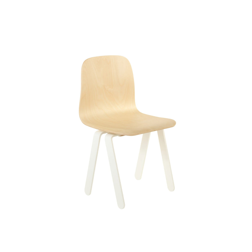 White Kids Chair by In2Wood, available at Bobby Rabbit.