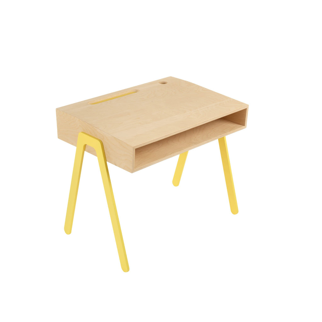Yellow Kids Desk by In2Wood, available at Bobby Rabbit.