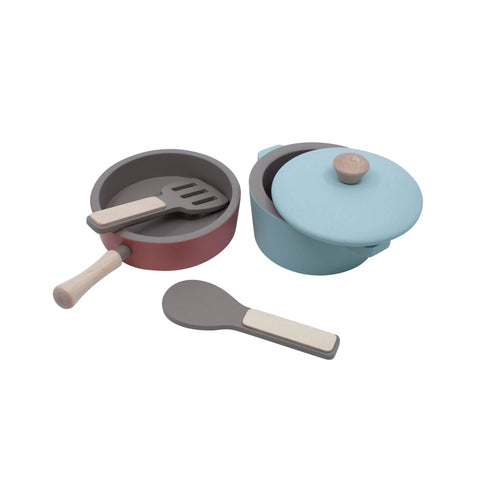 Wooden Kitchen Tools Set by Sebra, available at Bobby Rabbit.