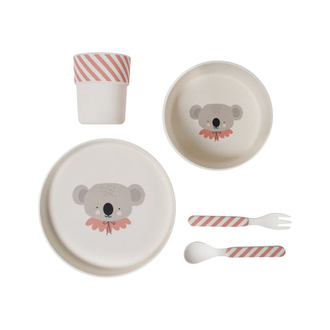 Koala Bamboo Tableware Set by Eef Lillemor, available at Bobby Rabbit.
