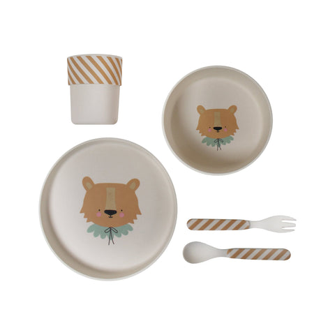 Lion Bamboo Tableware Set by Eef Lillemor, available at Bobby Rabbit.