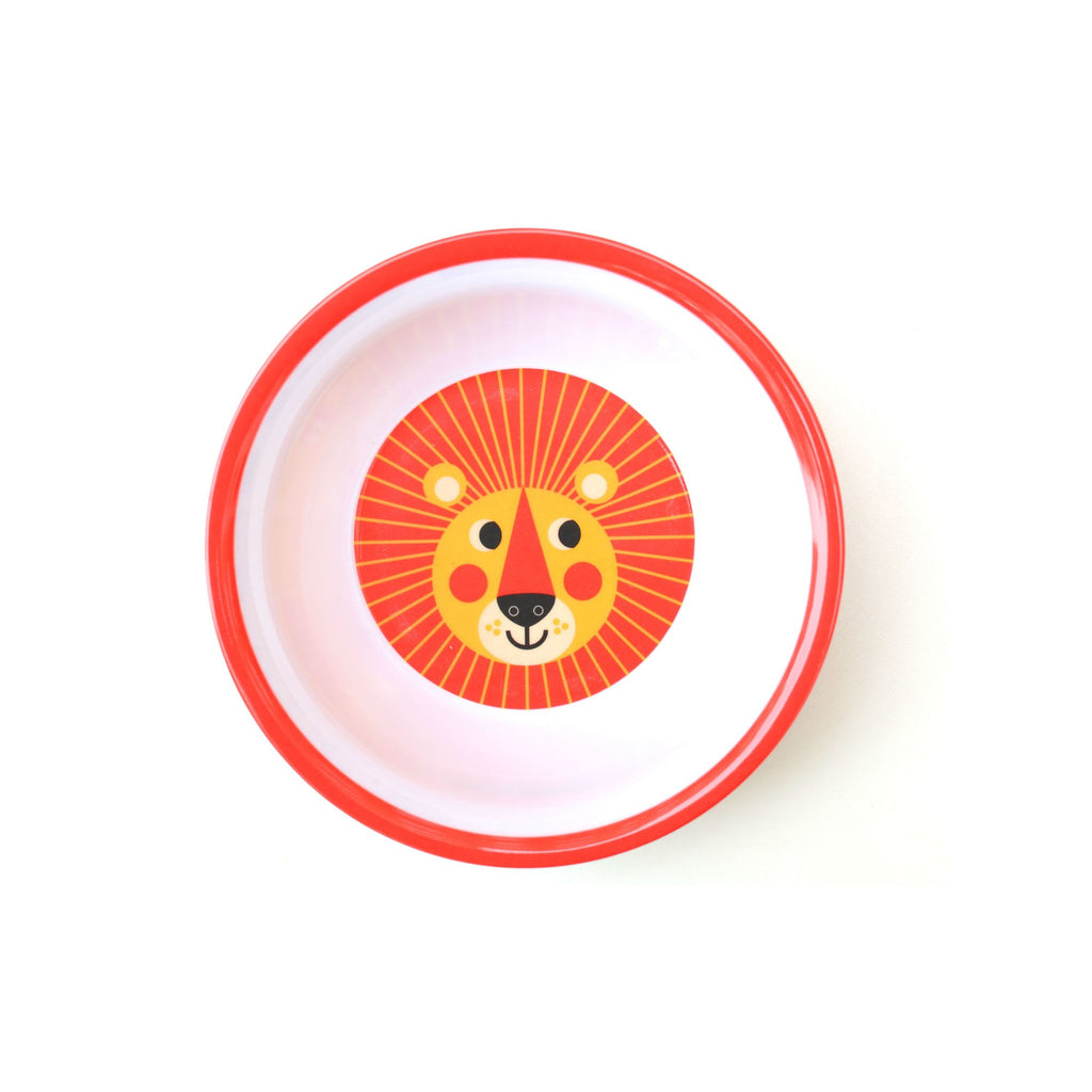 Melamine Lion Bowl, designed by Ingela P. Arrhenius for OMM Design and available at Bobby Rabbit. Free UK Delivery over £75