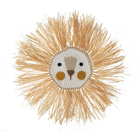 Lion Wall Decoration by Ily Y Ela, available at Bobby Rabbit. Free UK Delivery over £75