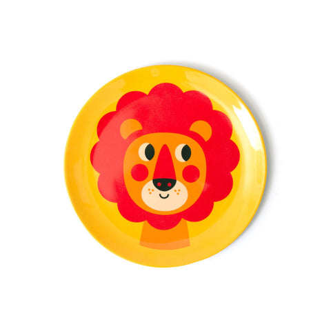 Melamine Lion Plate, designed by Ingela P. Arrhenius for OMM Design and available at Bobby Rabbit.