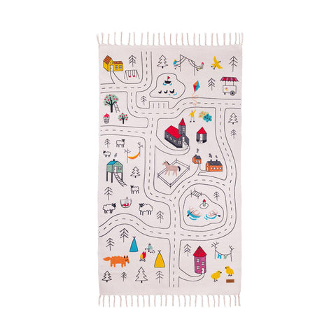 Little Explorer's Play Rug by Lakaluk, available at Bobby Rabbit.