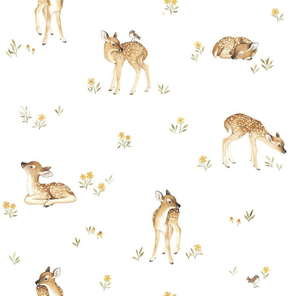 Little Fawn Wallpaper by Lilipinso, available at Bobby Rabbit.