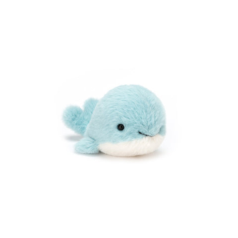 Fluffy Whale Soft Toy, designed and made by Jellycat and available at Bobby Rabbit.