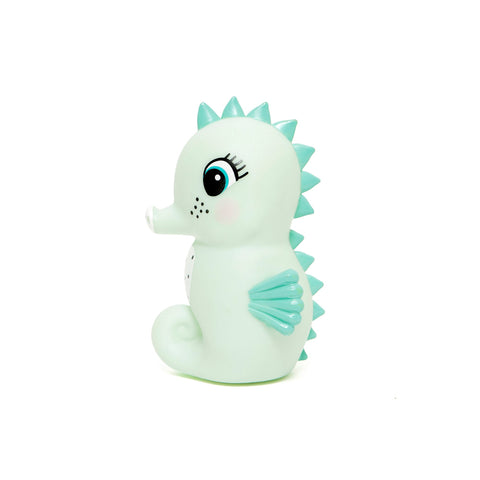 Mint Little Seahorse Light by Petit Monkey, perfect as a bedside light or night light. Available at Bobby Rabbit.