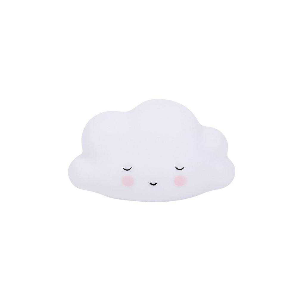Little Sleepy Cloud Light by A Little Lovely Company, perfect as a bedside light or night light. Available at Bobby Rabbit.